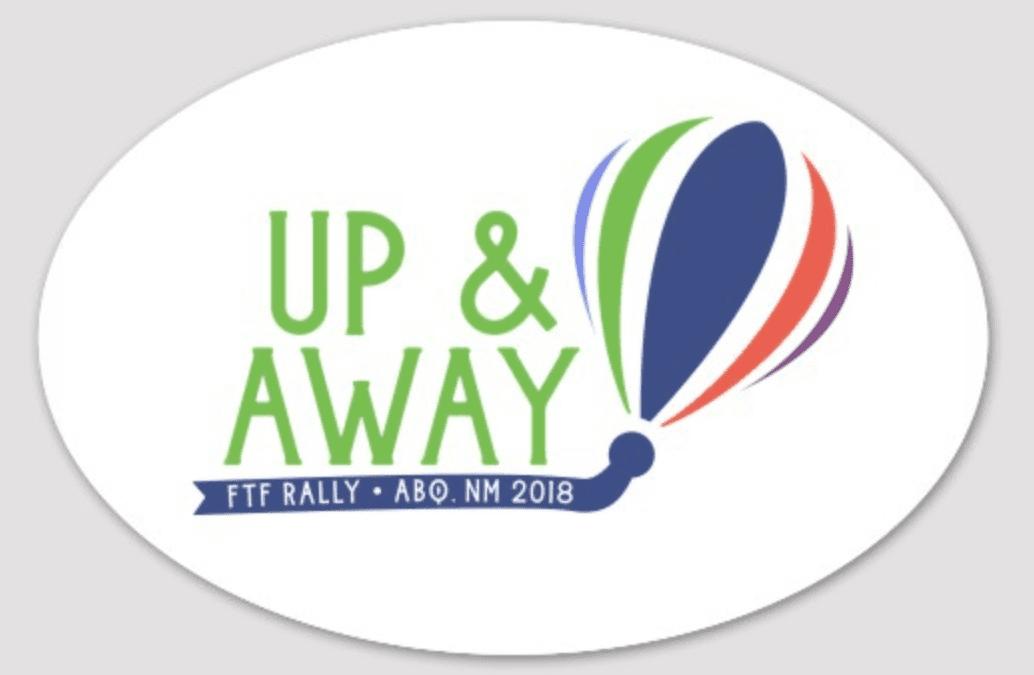 Stickers of the 2018 Fulltime Families Balloon Fiesta logo
