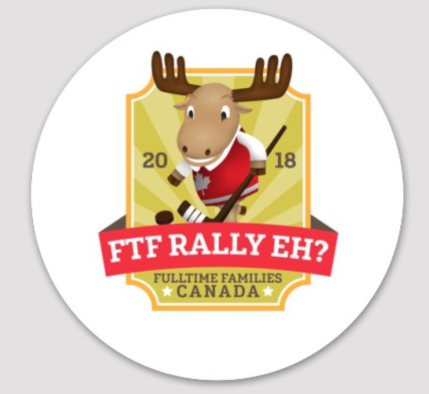 Stickers for the 2018 Fulltime Families Canadian Rally