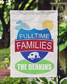 Fulltime Families Personalized Camping Flag