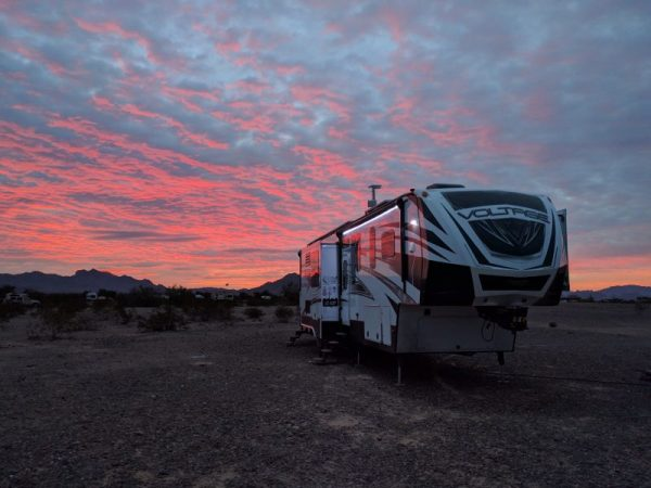 RV set up for boondocking