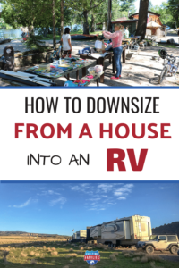 How to downsize from a house into an RV