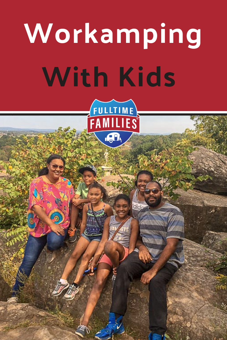 Workamping is a way to make money while RVing with kids full-time. Learn all about how workamping might be right for your full-time RV living and traveling family. #rv #rving #rvlife #rvingwithkids