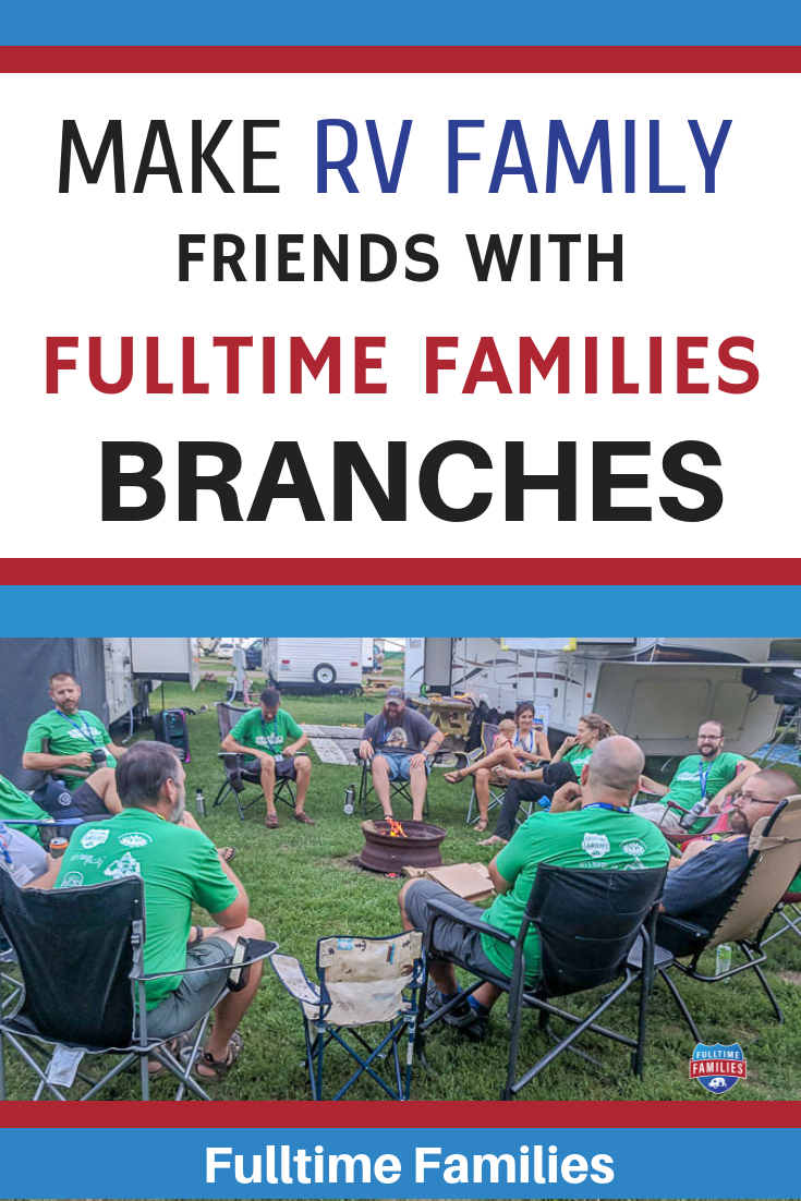 Are you thinking about becoming an RV living family with kids? The Fulltime Families community is a great place to start. We have 14 different branches that help you connect with like-minded friends on the road. #rv #rvliving #fulltimefamilies #rving #familytravel